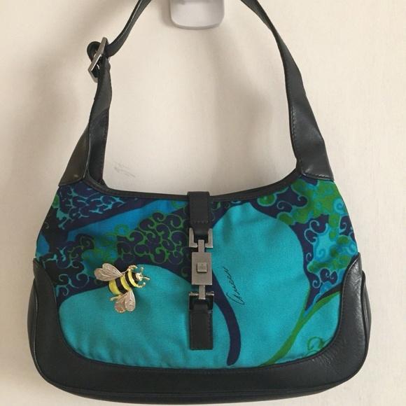 42f79170feaf Gucci Handbags - GUCCI Classic Jackie O' Handbag W/ Bumble Bee Deta